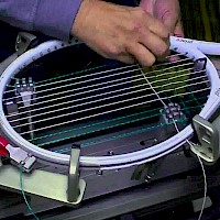 Racket stringing and service